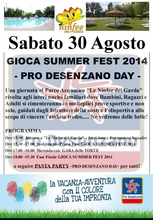 GIOCA SUMMER FEST 2014 -PRO DESENZANO DAY-