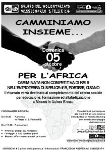 Camminata San Felice for Africa 5 ott 2014