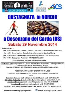 Castagnata in Nordic Desenzano 29 novembre 2014