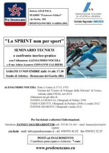 Seminario Atletica  Lo Sprint non per sport Desenzano 15nov2014