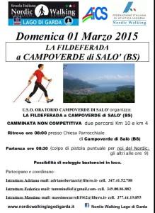 Camminata Campoverde Salò 01 Marzo 2015